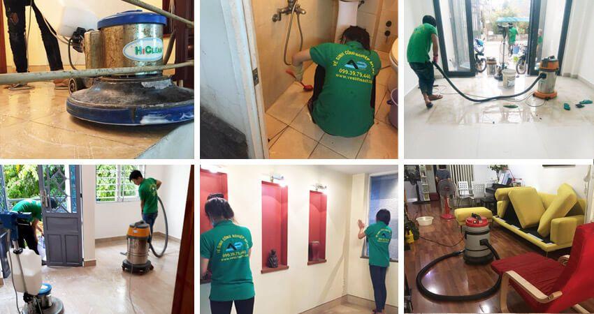 Dịch vụ vệ sinh nhà cửa tại Hoàn Kiếm Hà Nội