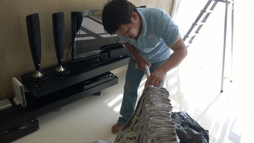 Dịch vụ giặt rèm cửa tại nhà Hà Nội