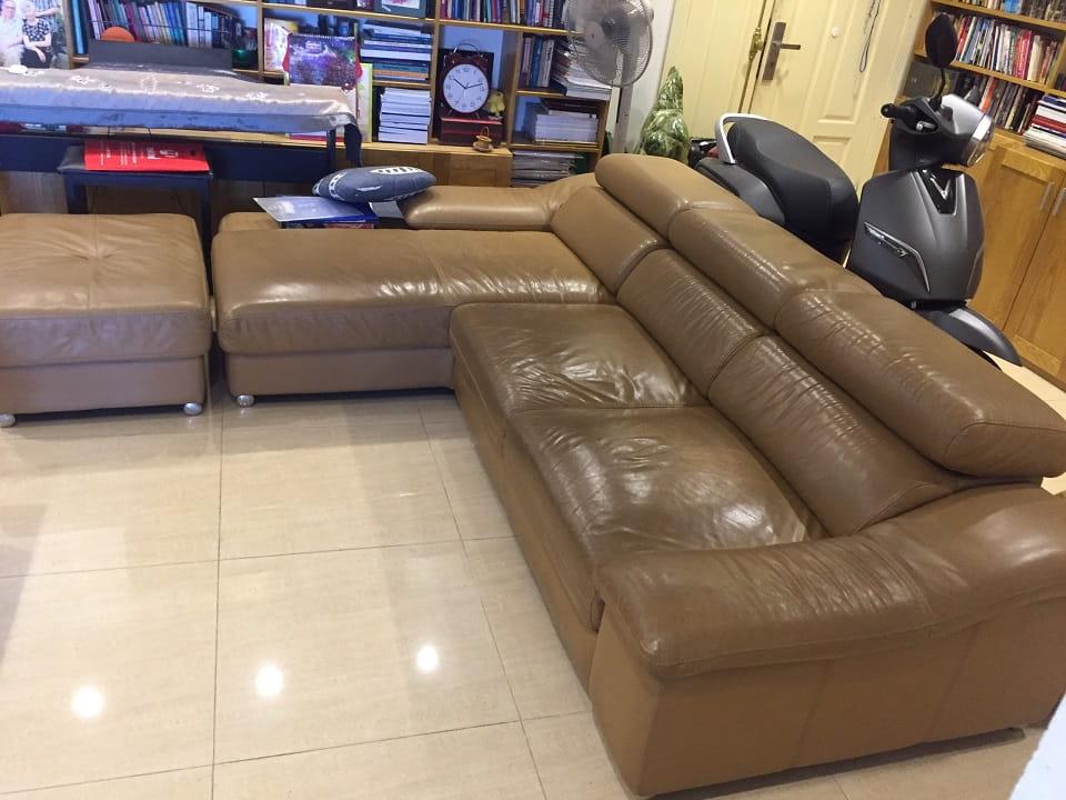 Dịch vụ giặt ghế sofa da Hà Nội