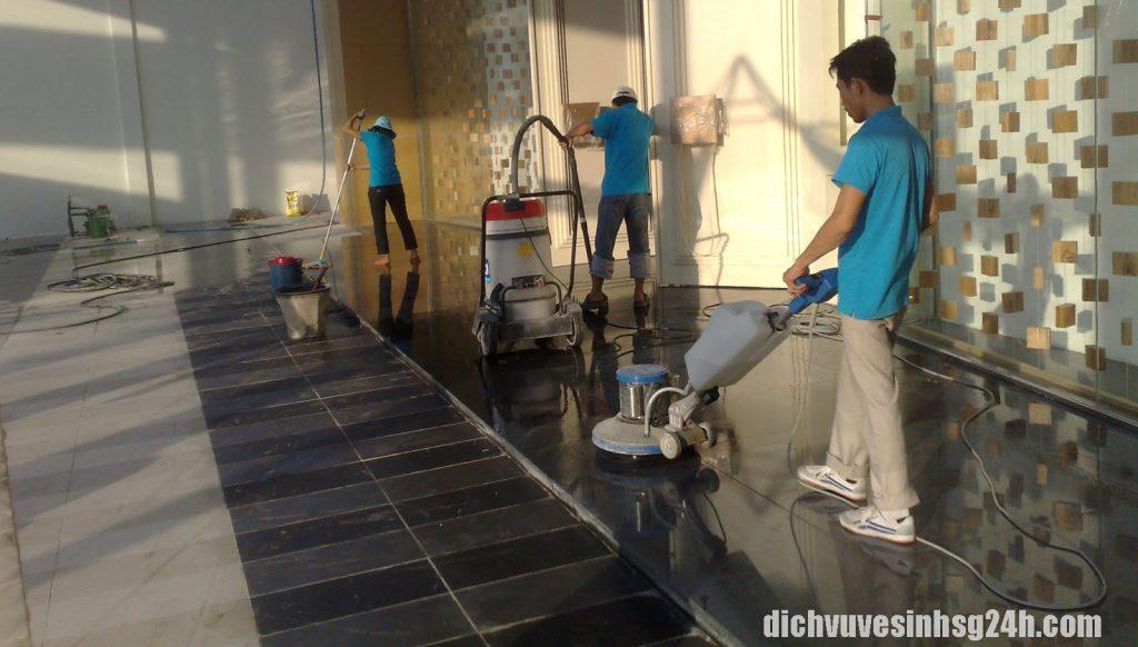 Dịch vụ đánh bóng sàn đá tại Hà Nội