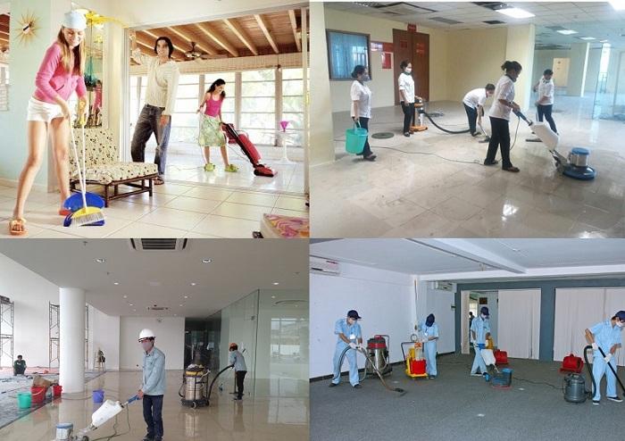 Dịch vụ vệ sinh nhà mới xây dựng tại Hà Nội
