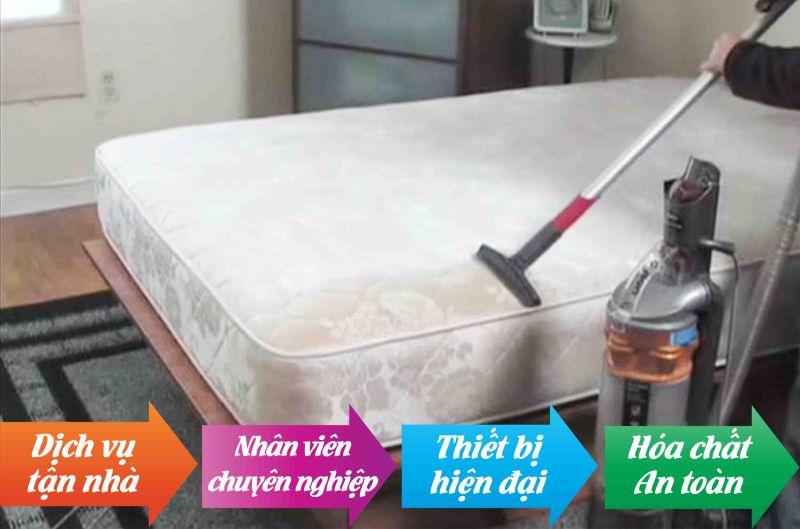 Dịch vụ giặt nệm tại nhà Tphcm